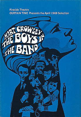 """Mart Crowley """"THE BOYS IN THE BAND"""" Kenneth Nelson 1969 Fireside Book Club Flyer"""