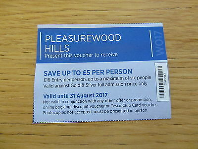Pleasurewood Hills Voucher - £16 Entry - Save Up To £5 Per Person