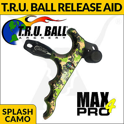 TRU Ball Max Pro 4 Release Aid - Splash Camo - Thumb Style Release Bow Hunting