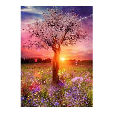 DIY Digital Oil Painting By Number Kit Canvas Home Artwork Paint -Fairy Tree