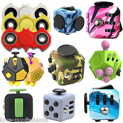 Fidget Spinner Six Sided Cube Toy for Children and Adults Best Stress Relief