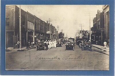 RPPC Carrington,Foster County,ND BOOSTERS, automobile lineup  used 1914 rally?