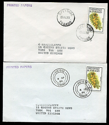 TOBAGO: (14970) 2 diff SPEYSIDE cancel/covers