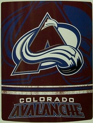 "Blanket Fleece Throw NHL Colorado Avalanche NEW 50""x60"" with protective sleeve"