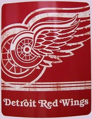 """Blanket Fleece Throw NHL Detroit Red Wings NEW 50""""x60"""" with protective sleeve"""