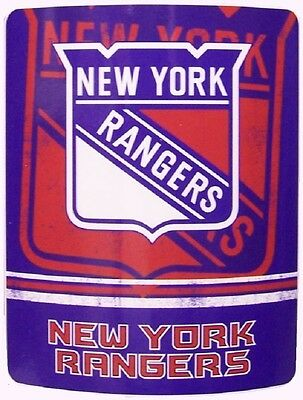 "Blanket Fleece Throw NHL New York Rangers NEW 50""x60"" with protective sleeve"