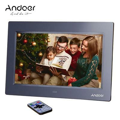 """10""""HD TFT-LCD Digital Photo Frame Picture Movie Player+Remote Contorl Black Z2X6"""