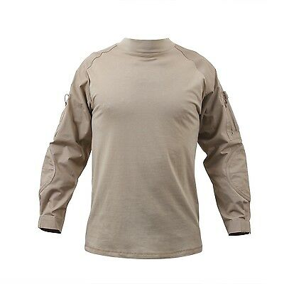 US Desert Sand Military Army PMC Contractor Combat Tactical SHIRT S / Small