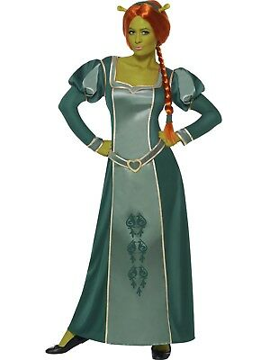 Shrek Princess Fiona Green Dress Movie Character Costume Licensed Film