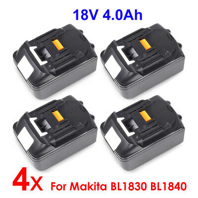 4 X 18V 4.0AH Battery Lithium Ion For Makita LXT BL1830 BL1840 BL1850 Replace UK