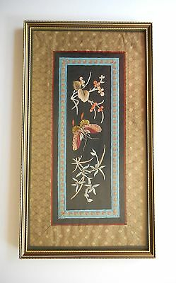 Antique Chinese Silk Framed Beautiful