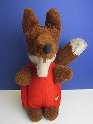 "16"" LARGE vintage rare BASIL BRUSH big old soft toy BOOM BOOM pull string B22"