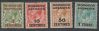Morocco Agencies French Currency 1917 Kgv Range To 1Fr Wmk Simple Cypher