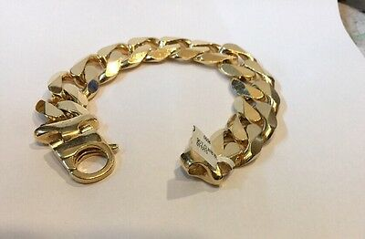 Mens Heavy 9ct Gold Bracelet 190 Grams