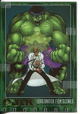 The Hulk Film And Comic Cards Illustrated Film Scenes Chase Card IF02