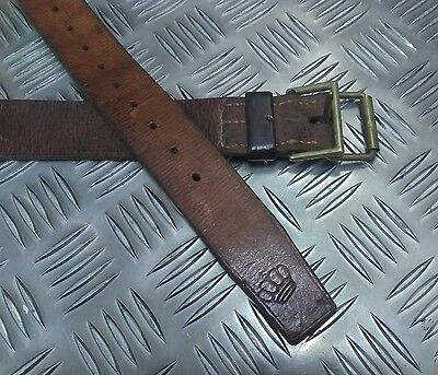 Genuine Vintage Nordic Military Issue Leather 3.5cm Wide Belt VSLB01