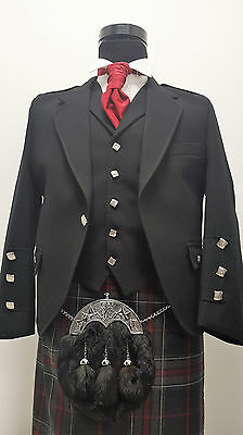 Braemar Kilt Jacket & Vest wool deluxe finish Scottish Made £249 Offer £179