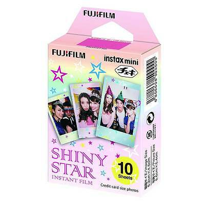 10 Shots Fuji Instax Mini SHINY STAR Instant Film for Fujifilm Mini Cameras