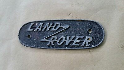 Land Rover Series 1 Early cast Aluminium badge