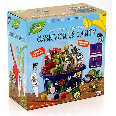 Childrens Carnivorous Plant Growing Kit Venus Fly Trap + Other Seeds Nature Set