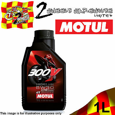 1x 1L MOTUL 300V 5W30 FACTORY LINE ROAD RACING ESTER CORE MOTOR CYCLE BIKE OIL