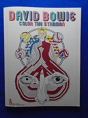 David Bowie  Color The Starman Adult Coloring Book ~ 2016~ Mike Diana ~ Last One