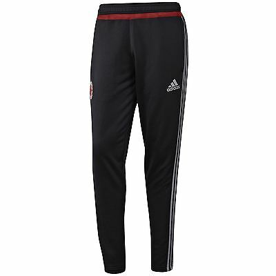 adidas AC MILAN TRACK PANTS BLACK 3 STRIPES BOTTOMS JOGGERS ROSSONERI FOOTBALL