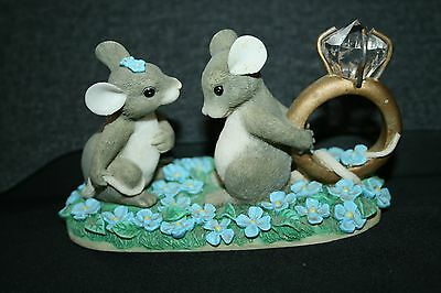 Vintage Charming Tails Figurine Mouse/Mice Engagement I Have A Question For You