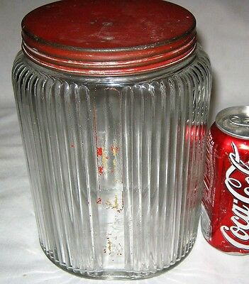 #2 Antique Usa Art Deco Country Primitive Hoosier Storage Glass Jar Bottle Food