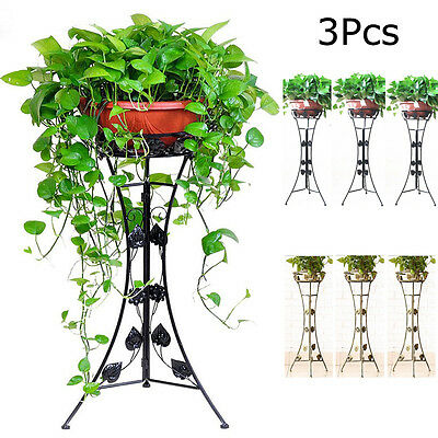 3 Pcs Flower Plant Pots Garden Stand Strong Metal Indoor and Outdoor use