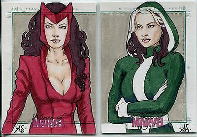 Women Of Marvel Series 2 Sketch Card Puzzle Set By Alison Sohn