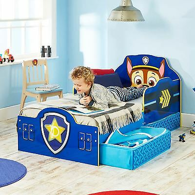 Official Paw Patrol Chase Toddler Bed With Storage Mdf New 509Pwp