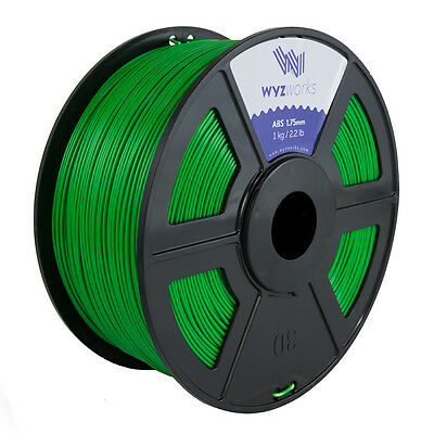 WYZwork 3D Printer Premium ABS Filament 1.75mm 1kg/2.2lb - Green