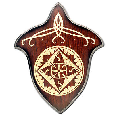 Hardwood Universal Medieval Stained Sword Wall Wood Plaque