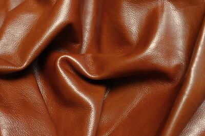 Leather Hide Cowhides Upholstery Skins Craft / Brown 73