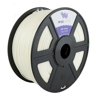 WYZwork 3D Printer Premium ABS Filament 1.75mm 1kg/2.2lb - Natural