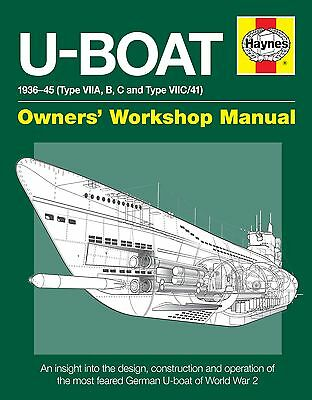 U-Boat Haynes Manual H5404 World War 2 German Type VIIC U-boat NEW