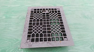 Vintage VICTORIAN Cast Iron Floor Grille 11x9  Heat Grate Register with Louvers
