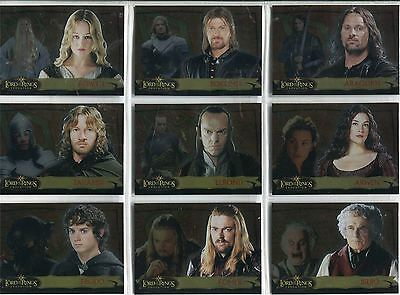 Lord Of The Rings Evolution Complete Evolution A Chase Card Set 1A-20A