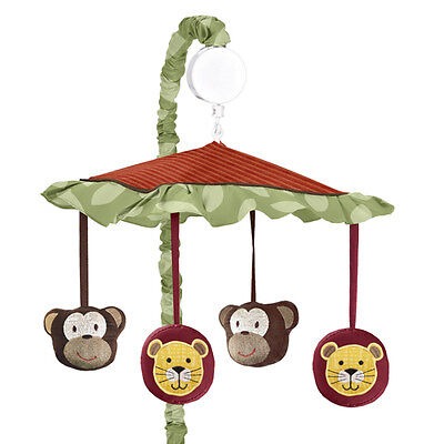 Sweet Jojo Designs Musical Mobile Jungle Ime Animal Safari Baby Crib Bedding Set