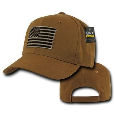 US RapDom Tactical USA Operator Cap Mütze w Flag Flagge Coyote