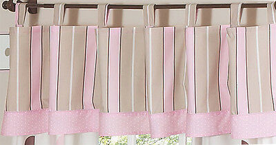Mod Dots Pink Brown Bedding Sets Window Valance Curtains by Sweet Jojo Designs
