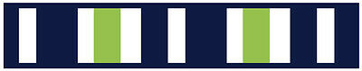 Sweet Jojo Navy Lime Stripe Kids Teen Wall Paper Border Room Decor Wallcovering