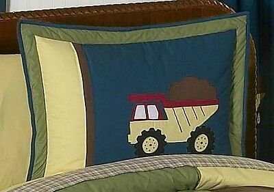 Pillow Case Sham for Sweet Jojo Designs Construction Truck Boy Kid Bedding Sets