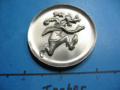 1.8 Oz Goofy Disney Kirk Collection 1974 High Relief Antique Pewter Coin Rare