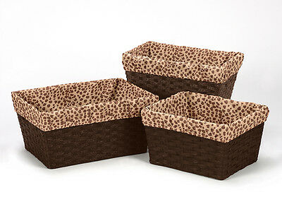 Cheetah Animal Print Organizer Storage Kid Basket Liners Small Medium Large Bin