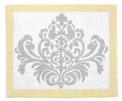 Sweet Jojo Designs Baby Kids Floor Rug For Yellow Grey White Damask Bedding Set