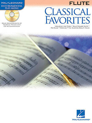 Classical Favorites Flute Solo Sheet Music Hal Leonard Play-Along Book CD NEW