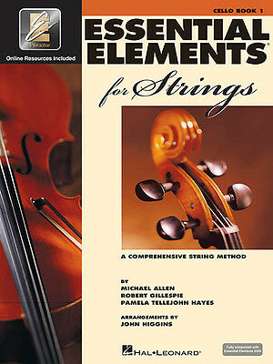 Essential Elements for Strings Cello Book 1 Beginner Lessons & Online Media NEW