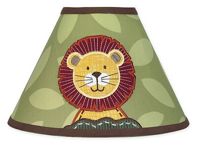 Sweet Jojo Designs Lamp Shade for Jungle Time Animal Safari Baby Kid Bedding Set